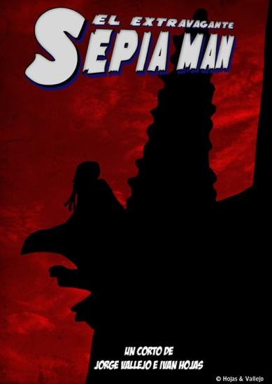 Cartel corto Sepia Man