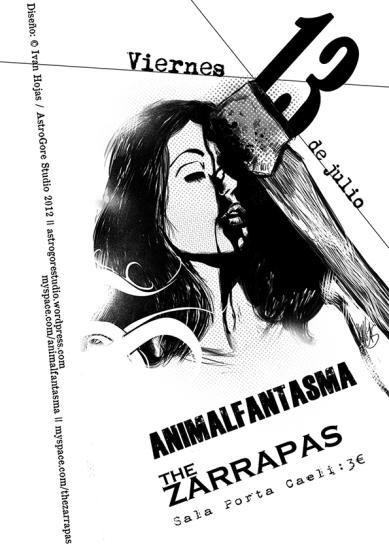Cartel Animalfantasma + The Zarrapas