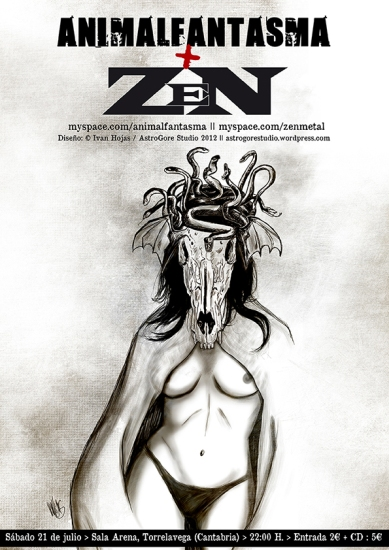 Cartel Animalfantasma + Zen