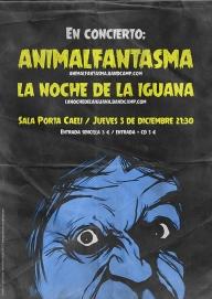 Cartel Animalfantasma + La noche de la iguana