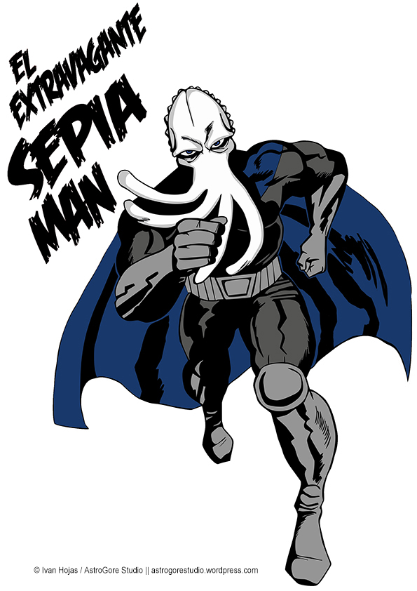 Sepia Man Camiseta - Jack Kirby style