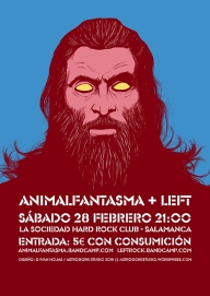 Cartel Animalfantasma + Left