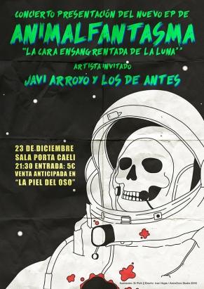 Cartel Animalfantasma + Javi Arroyo y los de antes